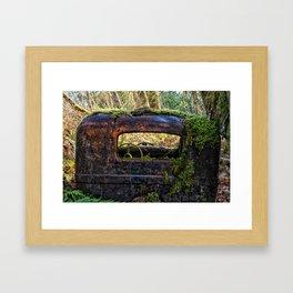 Mossy Truck Cab Framed Art Print