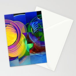 Round Pegs in Square Holes Stationery Cards