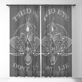 -Third Eye Don't Lie- Sheer Curtain