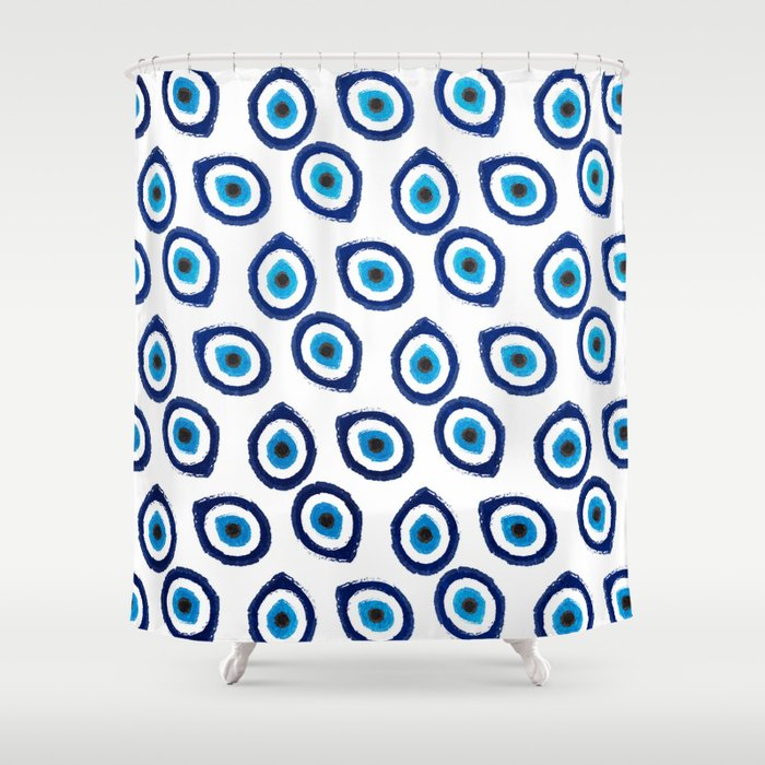 Evil Eye Teardrop Shower Curtain