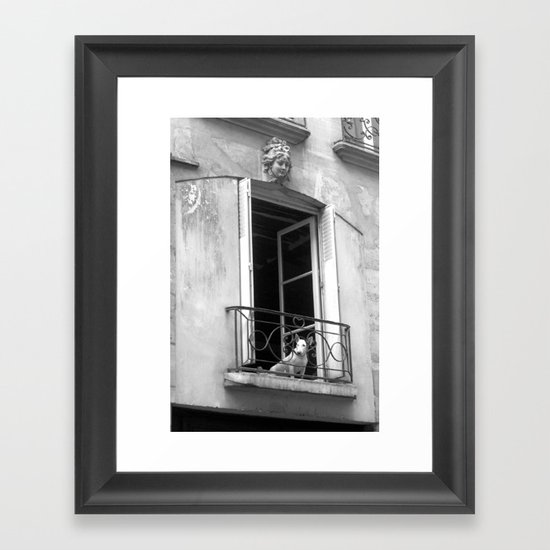 "Rue de la Verriere (Paris) ""GEOROMANTIC"" series Framed Art Print"