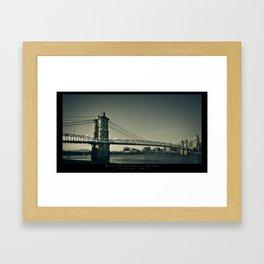 Roebling Bridge - Cincinnati, OH Framed Art Print