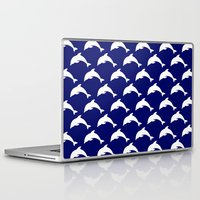 dolphins Laptop & iPad Skins featuring Dolphins by The Wellington Boot