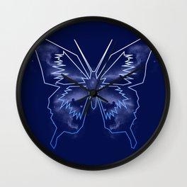 Galactica Blue Butterfly Wall Clock