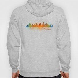 Austin Texas, City Skyline, watercolor  Cityscape Hq v3 Hoody