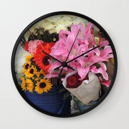Cuenca Flower Market Wall Clock