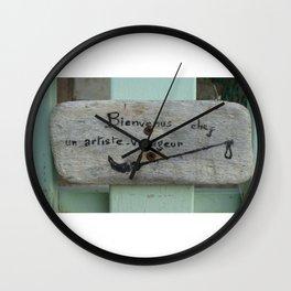Bienvenus Wall Clock