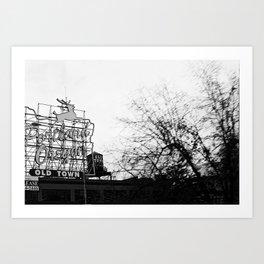 Portlandia - White Stag Sign Art Print