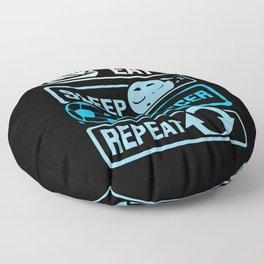 Eat Sleep Soccer Repeat Floor Pillow