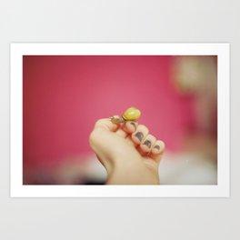 Little Yellow Ninja Dude Art Print