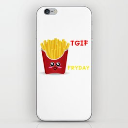 TGIF Thank God It's Fryday Cute French Fries Pun iPhone Skin