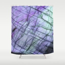Purple Labradorite Shower Curtain