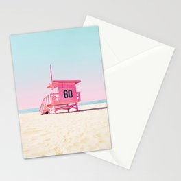 Pink Life Guard Tower - So Cal Stationery Cards
