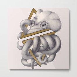 Geometric Octopus Metal Print