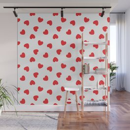 Playing cards hearts suit Wall Mural