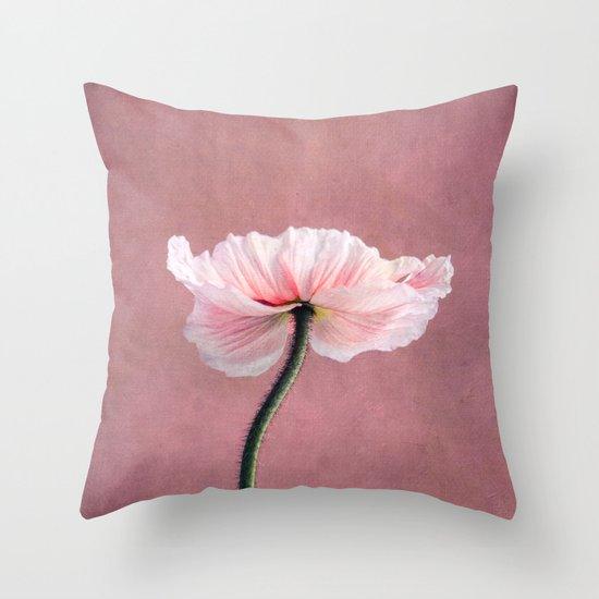 Madame Poppy Throw Pillow