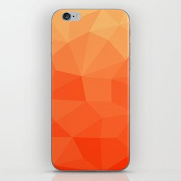 Abstract Geometric Gradient Pattern between Pure Red and very light Orange iPhone Skin