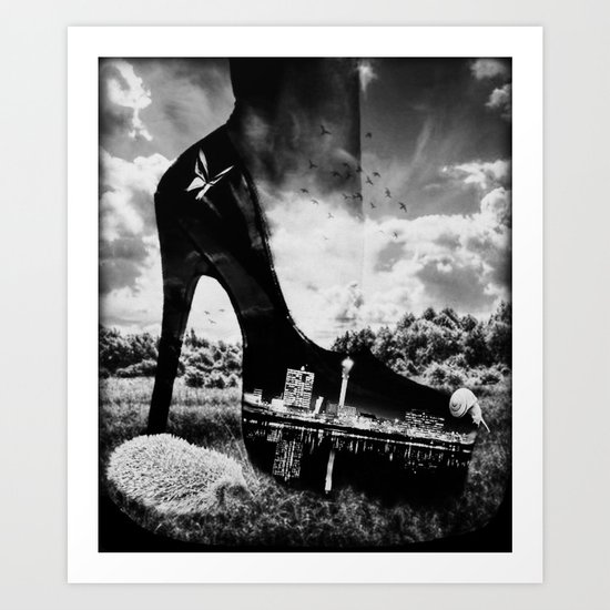 You can take the Girl out of the city ... Art Print
