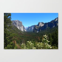 Bridal Veil Falls From Tunnel View Point - Yosemite Valley Canvas Print