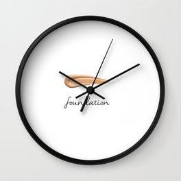 FOUNDATION - MAKEUP LOVER Wall Clock