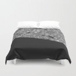 Terrazzo Texture Grey Black #7 Duvet Cover