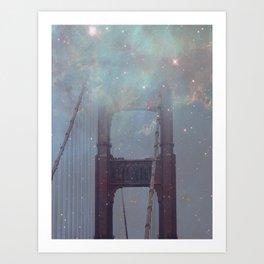 Starry San Francisco Art Print