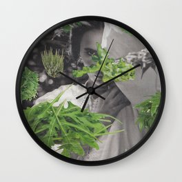 Foliage Glitch Wall Clock
