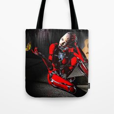 The Butterfly and The Robot Tote Bag