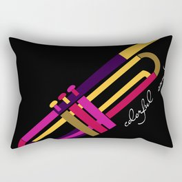 colorful sound Rectangular Pillow