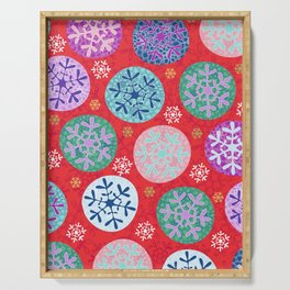 Floral Winter in red. Serving Tray