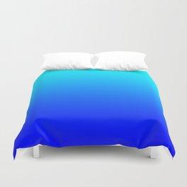 Aqua Blue Bright Ombre Duvet Cover