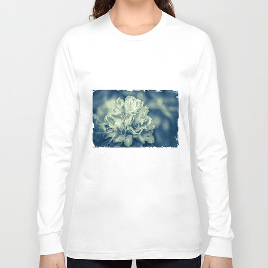 filigree - blue Long Sleeve T-shirt
