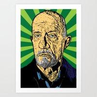 Mike From Breaking Bad/Better Call Saul Digital Art Print Art Print