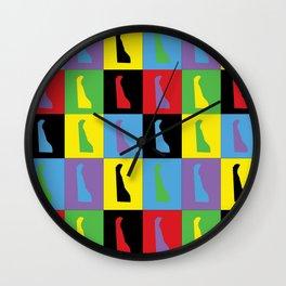 Delaware Pop Art Wall Clock