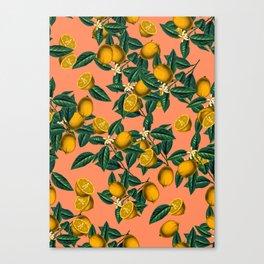 Lemon and Leaf Canvas Print