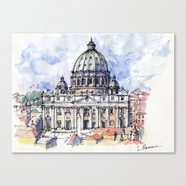 Basilica di S. Pietro a Roma (color version) Canvas Print