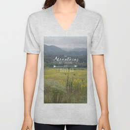 Mountains are Calling - The Smokys Unisex V-Neck