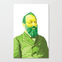 garfield Canvas Prints featuring James Garfield by kablab