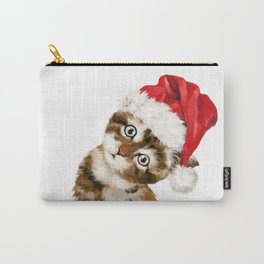 Christmas Baby Cat Carry-All Pouch