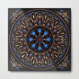 Circular Egyptian Ornament #1 Metal Print