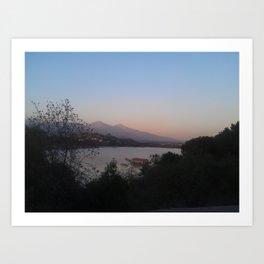 The Eerie Lake Art Print