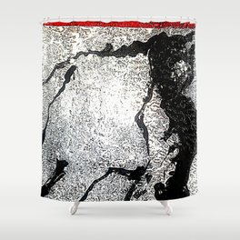 Poetic Texture II Shower Curtain