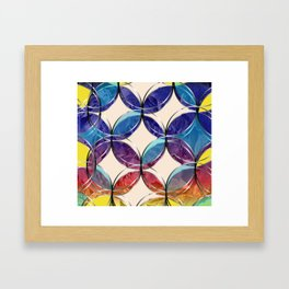 For Van Gogh. Sunrise composition. Graphic Design. Hybrydus. Framed Art Print