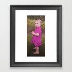 Little Eve (violet) Framed Art Print