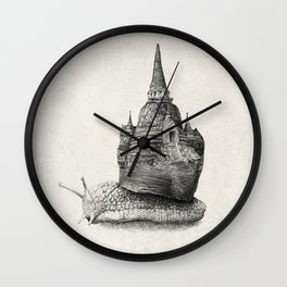 The Snail's Dream (monochrome option) Wall Clock