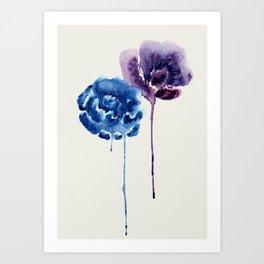 Drip Flowers Art Print