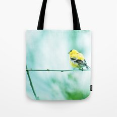 Goldfinch Perched On A Branch Tote Bag