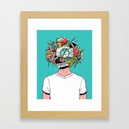 Creative Head Framed Art Print