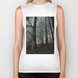 misty forest Biker Tank