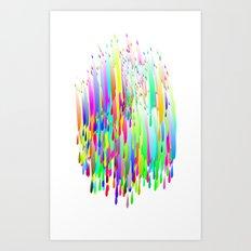 Color drops Art Print